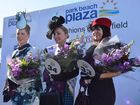 Tracey Press (centre) took out the prestigious Park Beach Plaza Fashions on the Field Classical Lady award with Liz Stehr (right) placing third and Karyn Johnson (left) placing second.